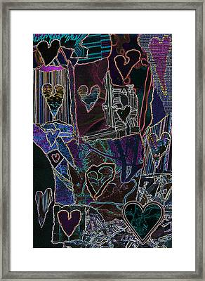 Thought Of Love Framed Print by Kenneth James