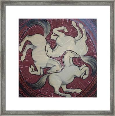 Three Horses Framed Print by Sophy White