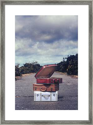 Three Suitcases Framed Print by Joana Kruse