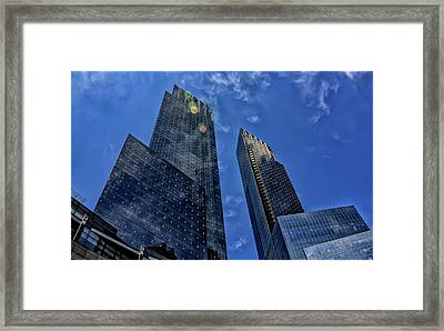 Time Warner Center Nyc Framed Print by Robert Ullmann