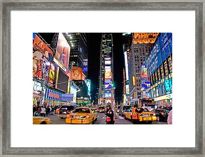 Times Square Framed Print by June Marie Sobrito