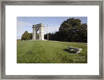 Titus Arch Replica - Northfield Nh Usa Framed Print by Erin Paul Donovan