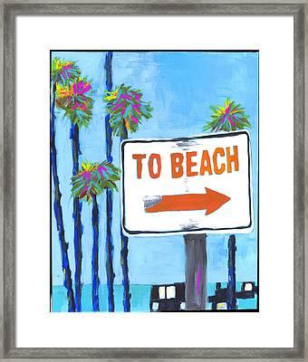 To The Beach Framed Print by Debbie Brown