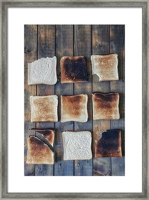 Toast Framed Print by Joana Kruse