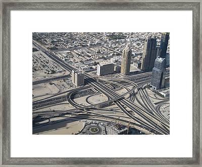 Top View. Burj Khalifa. Framed Print by Andy Za