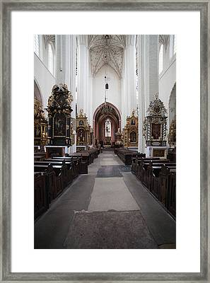 Torun Cathedral Interior In Poland Framed Print by Artur Bogacki