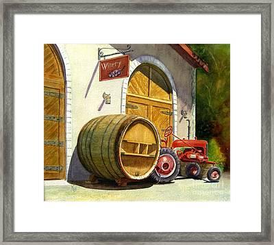 Tractor Pull Framed Print by Karen Fleschler