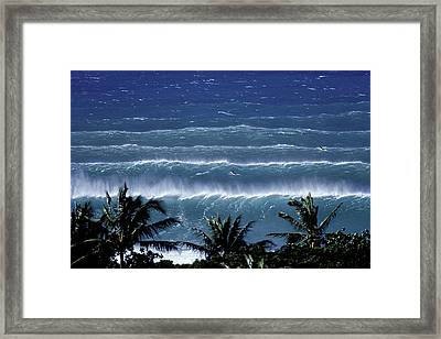 Trade Lines Framed Print by Sean Davey