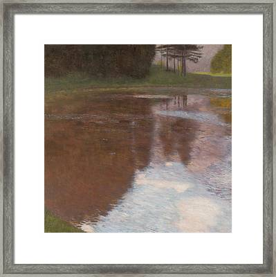 Tranquil Pond Framed Print by Gustav Klimt