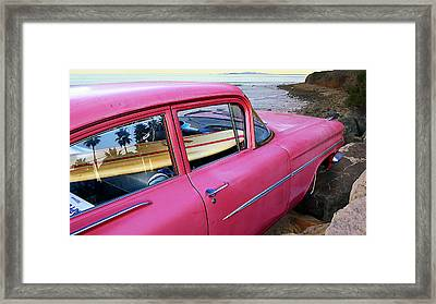 Treasure In The Chevy Framed Print by Ron Regalado