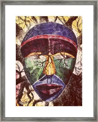 Tribes Past Framed Print by Peg Graham