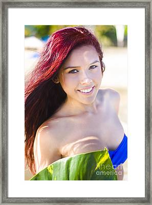 Tropical Island Woman Framed Print by Jorgo Photography - Wall Art Gallery
