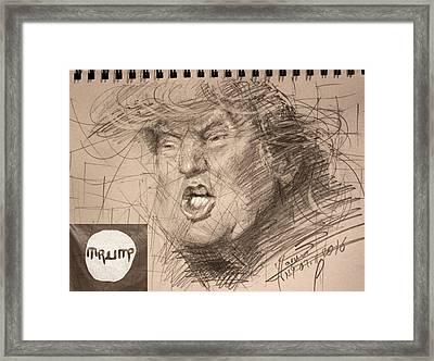 Trump Framed Print by Ylli Haruni
