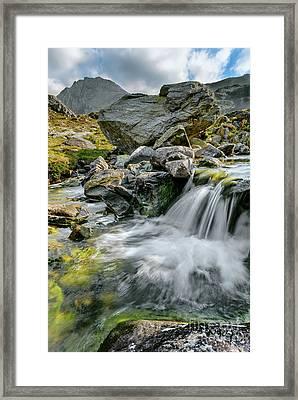 Tryfan In The Ogwen Valley Framed Print by Adrian Evans