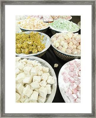 Turkish Sweets Framed Print by Tom Gowanlock