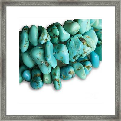 Turquoise Stones Framed Print by Blink Images