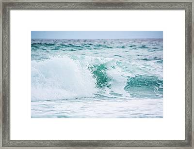 Turquoise Waters Framed Print by Shelby  Young