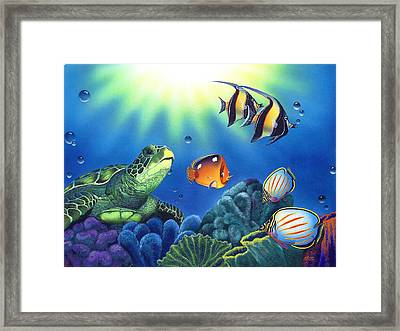 Turtle Dreams Framed Print by Angie Hamlin