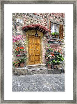 Tuscan Entrance Cortona Framed Print by Al Hurley