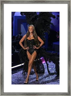 Tyra Banks Inside For The Victorias Framed Print by Everett