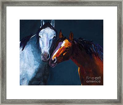 Unbridled Love Framed Print by Frances Marino