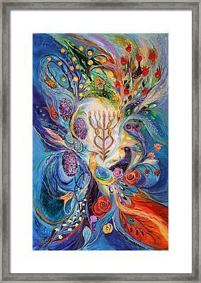 Under The Light Of Menorah Framed Print by Elena Kotliarker