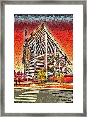 University Of Maryland - Byrd Stadium Framed Print by Stephen Younts