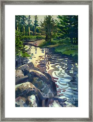 Up With The Fishes Framed Print by Donald Maier