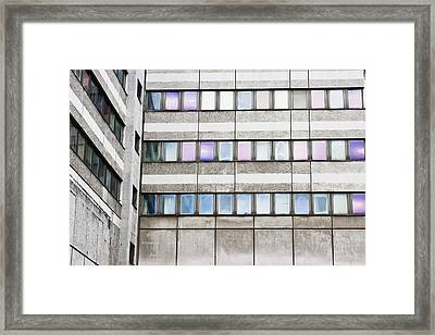 Urban Building Framed Print by Tom Gowanlock