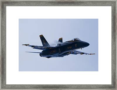 Us Navy Blue Angels High Speed Turn Framed Print by Dustin K Ryan