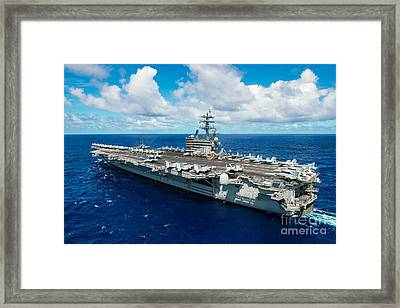 Uss Ronald Reagan Framed Print by Celestial Images