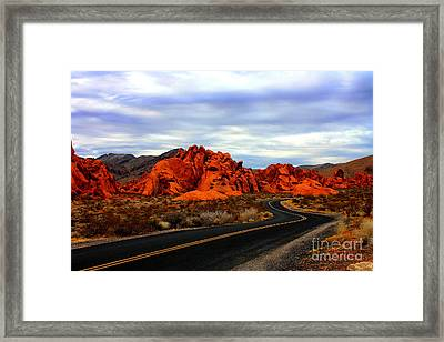 Valley Of Fire Framed Print by Barbara Teller