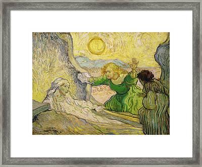 Van Gogh Raising Of Lazarus After Rembrandt Framed Print by Vincent van Gogh