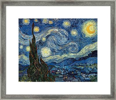 Van Gogh Starry Night Framed Print by Granger