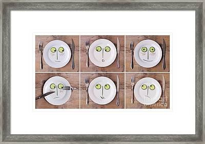 Vegetable Faces Framed Print by Nailia Schwarz