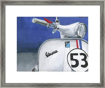 Vespa 53 Framed Print by Debbie Brown