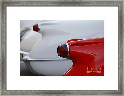 Vette Tails Framed Print by Dennis Hedberg