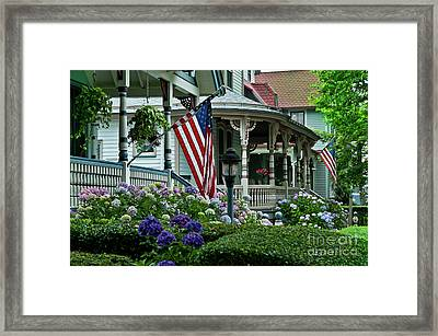 Victorian House And Garden. Framed Print by John Greim