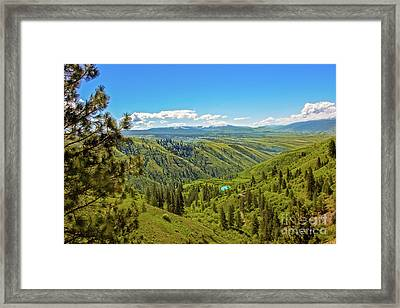 View From The Top Framed Print by Robert Bales