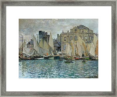 View Of Le Havre Framed Print by Claude Monet