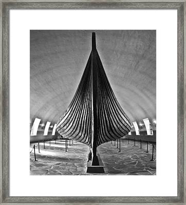 Vikingship Framed Print by A A