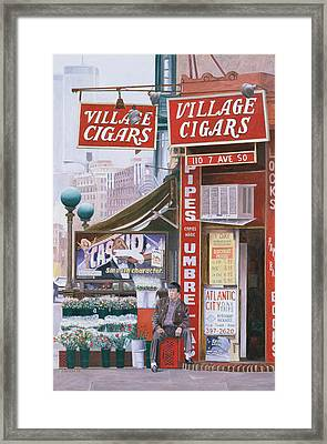 Village Cigars Framed Print by Anthony Butera