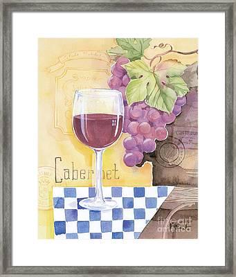 Vintage Cabernet Framed Print by Paul Brent