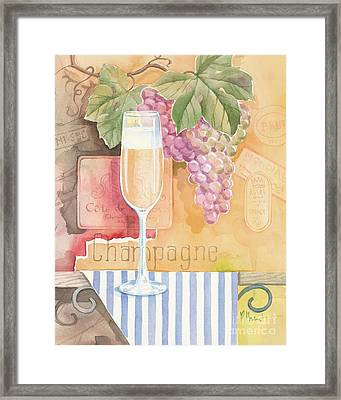 Vintage Champagne Framed Print by Paul Brent