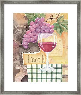 Vintage Pinot Noir Framed Print by Paul Brent