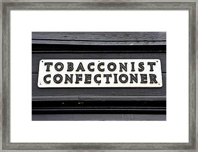 Vintage Sign Framed Print by Tom Gowanlock