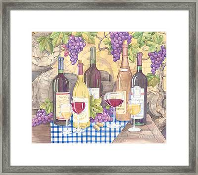 Vintage Wine I Framed Print by Paul Brent