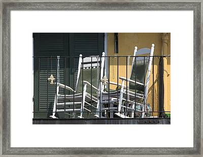 Waiting For Mardi Gras Framed Print by Lauri Novak