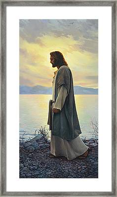 Walk With Me  Framed Print by Greg Olsen