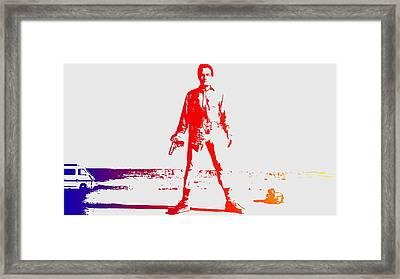 Walter White Aka Heisenberg Framed Print by Chris Smith